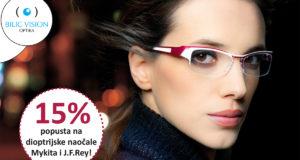 15% popusta na dioptrijske naočale vrhunskih brandova - Mykita i J.F.Ray