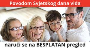 Povodom SVJETSKOG DANA VIDA - 13. i 14. 10. provjerite svoj vid i vid svog djeteta, a svakom kupcu Blink umjetne suze na DAR