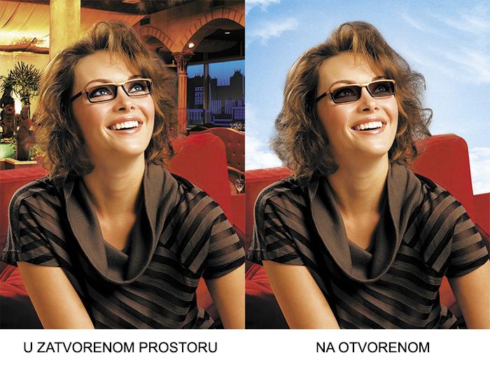 Fotoosjetljive naočalne leće - Bilić Vision