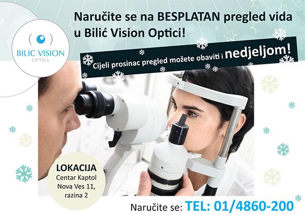 besplatan pregled vida u Bilić Vision Optici